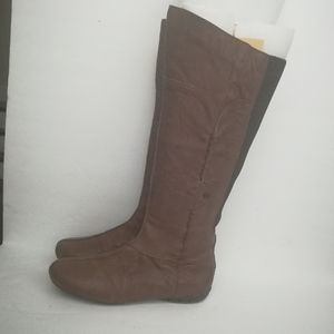 Sergio Tomani Womens Brown Leather Knee High Boots